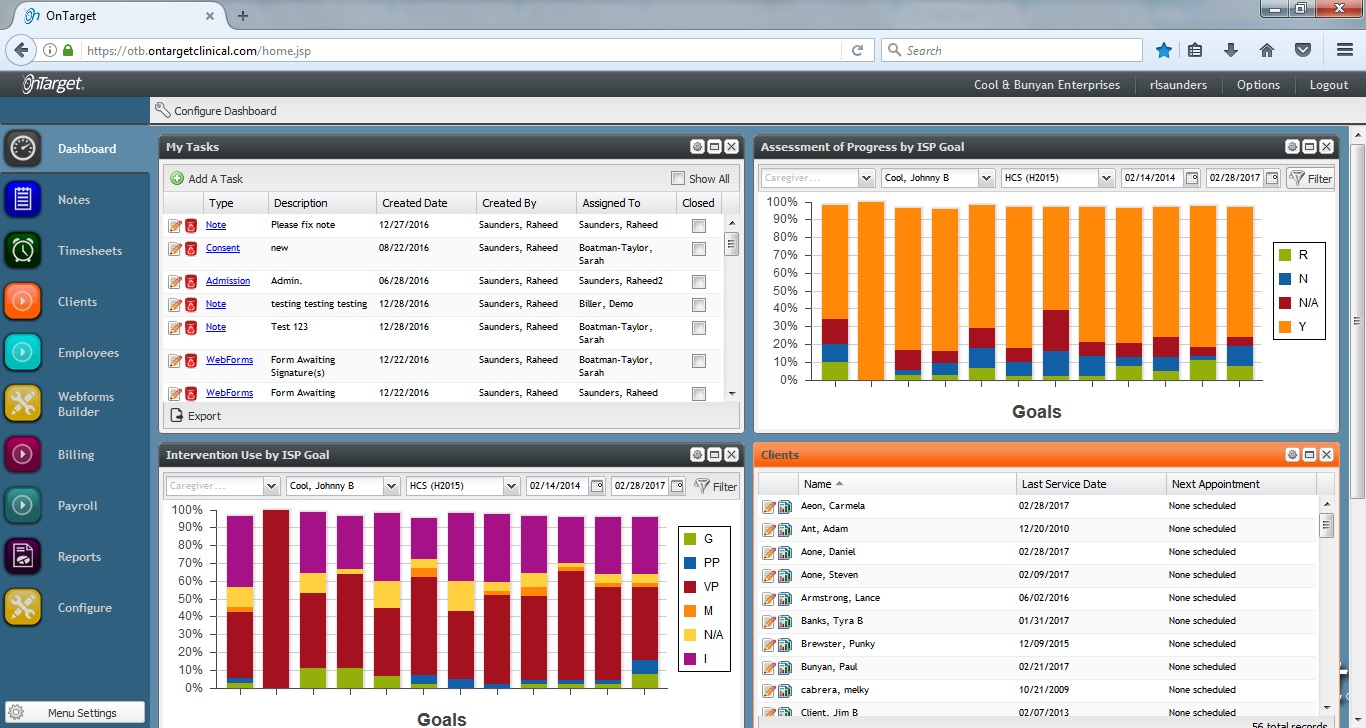 Dashboard EHR Software