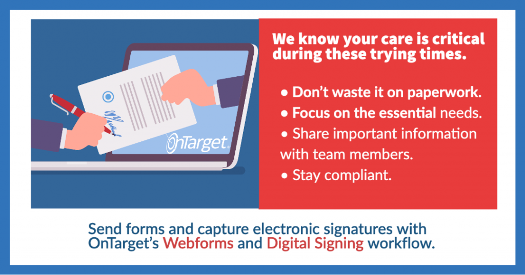 OnTarget Webforms and Digital Signing